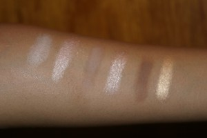 Urban Decay Nake Palette Swatches