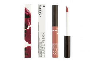 Korres Raspberry Liquid Lipstick nude beige