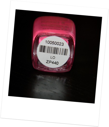 Zoya nail polish bottle Lo