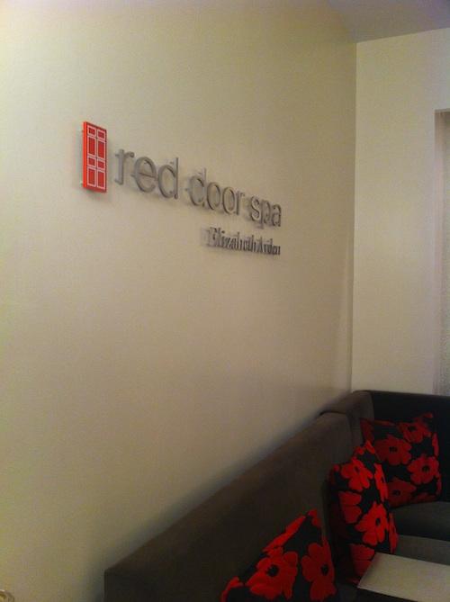 Inside of Elizabeth Arden Red Door Spa in Manhattan, NYC