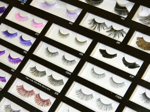 Fantasy false eyelashes at the Makeup Show New York City 2012