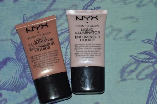 Nyx Professional Makeup Spring 2013 Born to Glow Liquid Illuminator in Sunbeam and Gleam